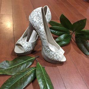 MICHAEL peep toe platform heels